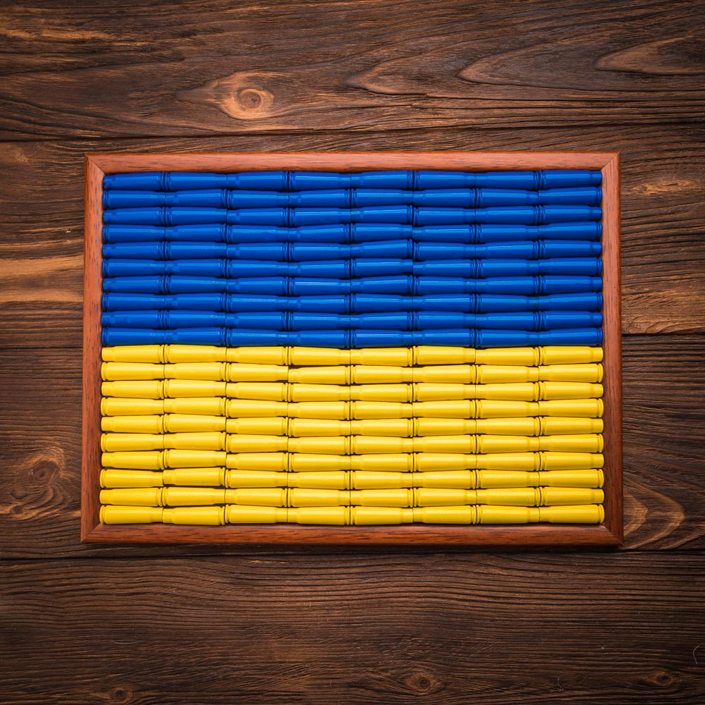 флаг Украины из гильз 7.62х39