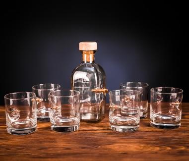 Набір з шести склянок і графіна