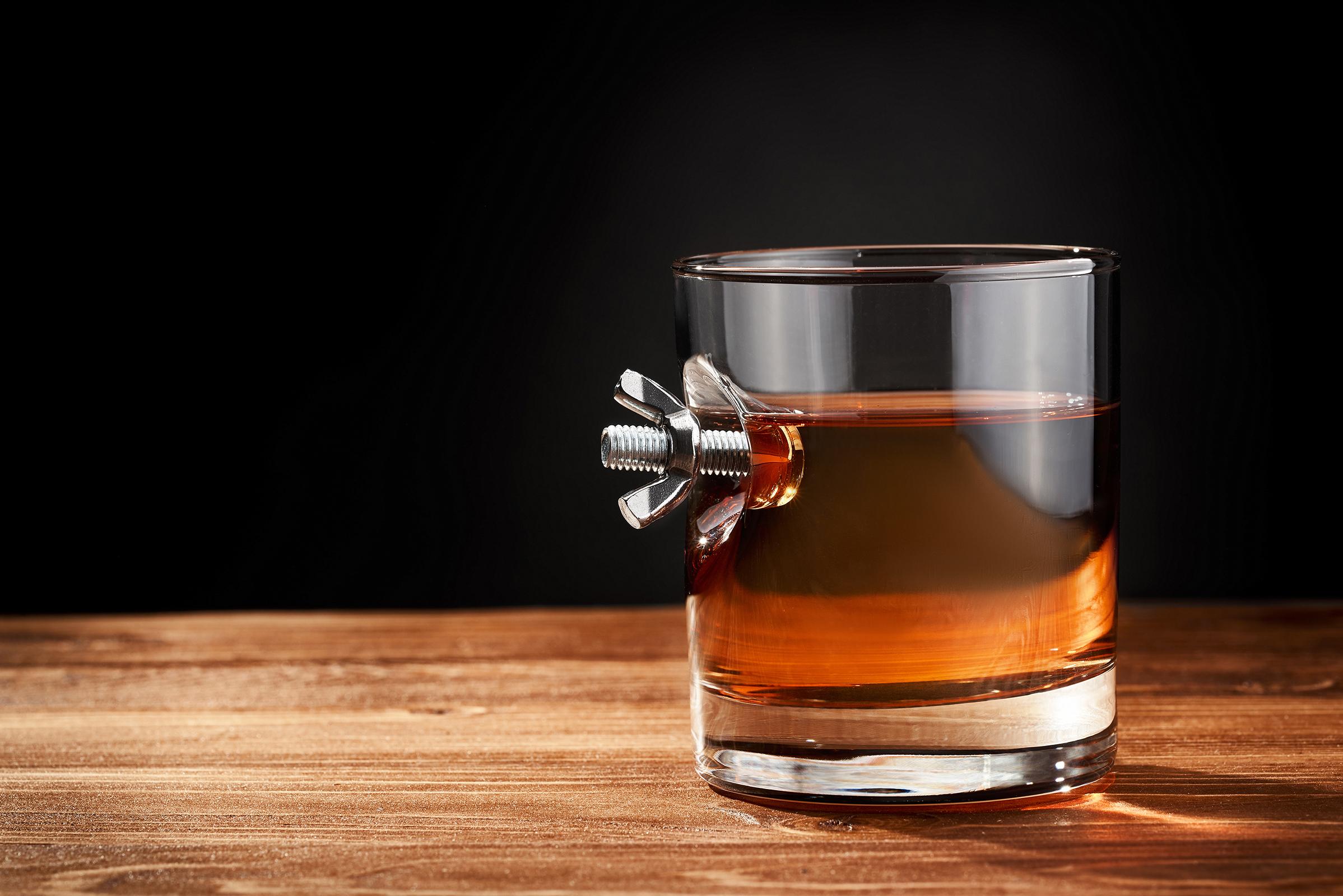 """стакан для віскі """"спінер"""" в деревяному тубусі"""
